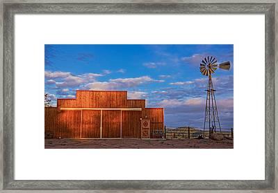 Western Barn Framed Print by Mike Hendren