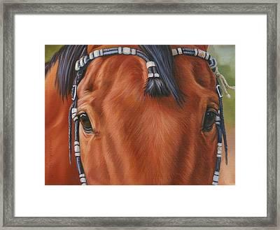 Western Braids Framed Print by Kathleen  Hill