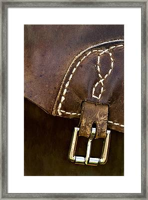 Western Chaps Detail Framed Print by Susan Candelario