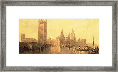 Westminster Houses Of Parliament Framed Print by David Roberts