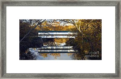 Westport Covered Bridge - D007831a Framed Print by Daniel Dempster