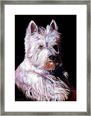 Westy Framed Print by Bob Coonts