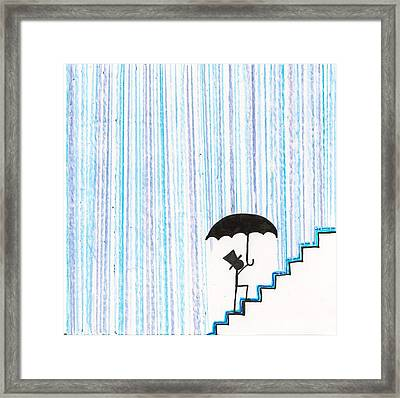 Wet Feet Freak Out Framed Print by Candace Fowler