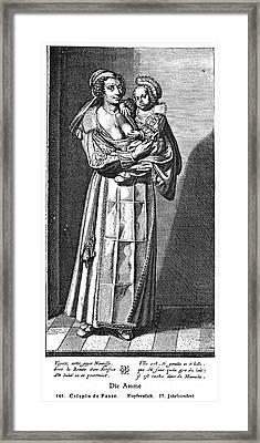 Wet Nurse, 17th Century Framed Print by Granger