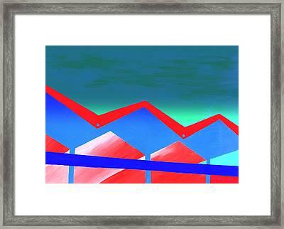 Wexler Folded Roof Eight Framed Print by Randall Weidner
