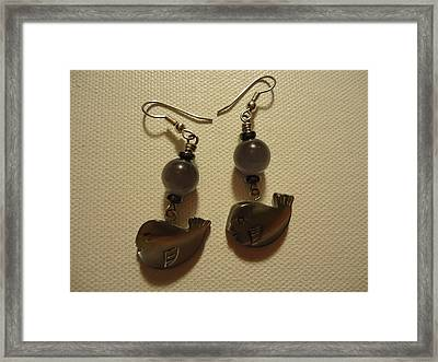 Whale Around Earrings Framed Print by Jenna Green