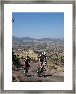 What A Climb Framed Print by Feva  Fotos