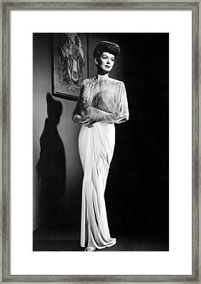 What A Woman, Rosalind Russell Wearing Framed Print by Everett