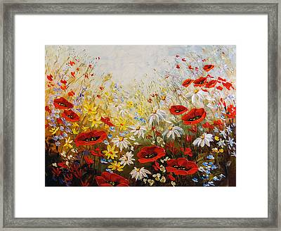 What A Wonderful Day Framed Print by Irena Sherstyuk