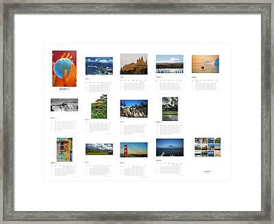 What A Wonderful World Calendar 2012 Framed Print by Juergen Weiss