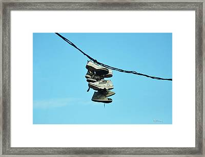 What Do You Mean You Need A New Pair Of Sneakers Framed Print by Bill Cannon