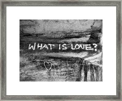 What Is Love? Framed Print by Brett Reginald