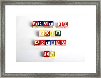 What Is Your Asthma Iq Framed Print by Photo Researchers