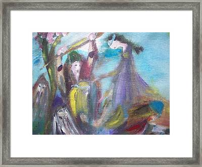 What Kept You Framed Print by Judith Desrosiers
