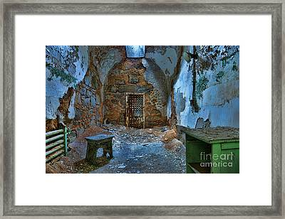 What Lies Behind The Door Framed Print by Paul Ward