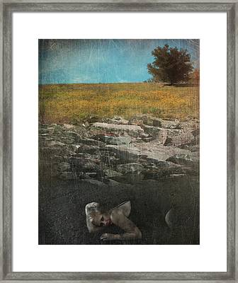 What Lies Below Framed Print by Laurie Search