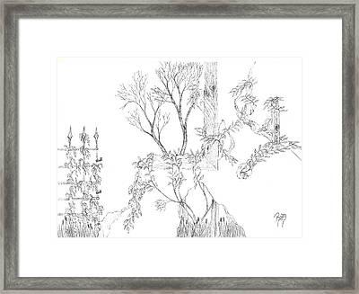 What Remains - Sketch Framed Print by Robert Meszaros