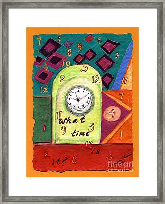 What Time Is It? Framed Print by Marlene Robbins
