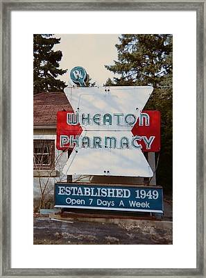 Wheaton Pharmacy Framed Print by Todd Sherlock