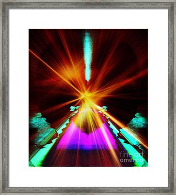 When A Prayer Goes Up Framed Print by Fania Simon