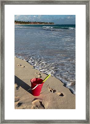 When Can We Go To The Beach? Framed Print by Karen Lee Ensley
