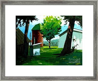 When Pat Loved Larry Framed Print by Charlie Spear