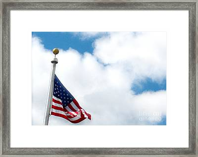 When Shall Truth Set Us Free? Framed Print by Rory Sagner