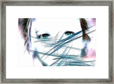 When She Looked Into The Mirror Framed Print by Gun Legler