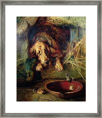 When The Cat's Away The Mice Will Play  Framed Print by Philip Eustace Stretton