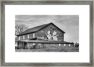 When The Farmer's Away Bw Framed Print by JC Findley