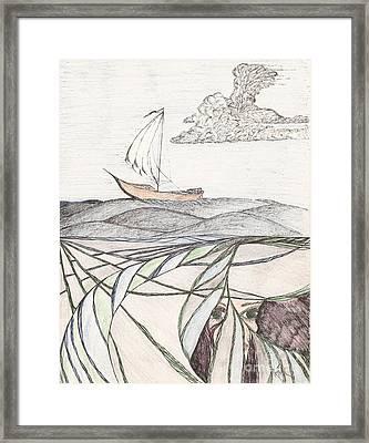 Where The Deep Currents Run... - Sketch Framed Print by Robert Meszaros