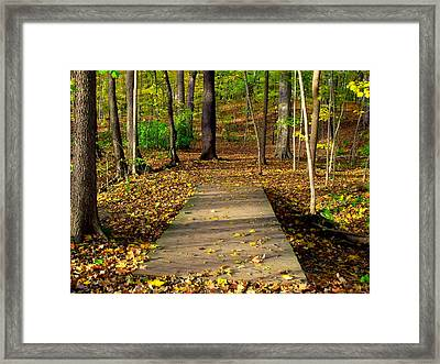 Where The Side Walk Ends Framed Print by Ed Smith