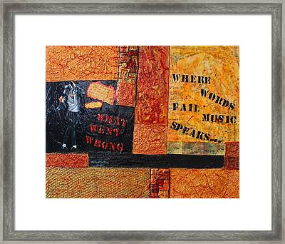 Where Words Fail Music Speaks Framed Print by Victoria  Johns