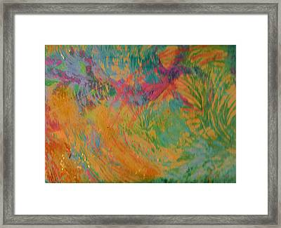 Whimsy To Brighten Your Day Framed Print by Anne-Elizabeth Whiteway