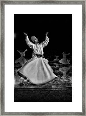Whirling Dervish Framed Print by Okan YILMAZ