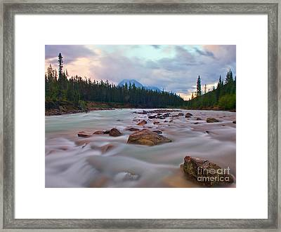 Whirlpool River Framed Print by James Steinberg and Photo Researchers