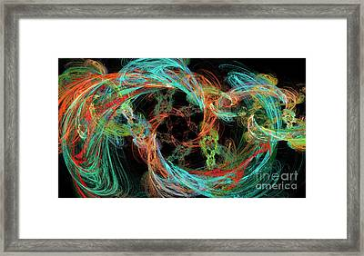 Whirly Gig Framed Print by Andee Design