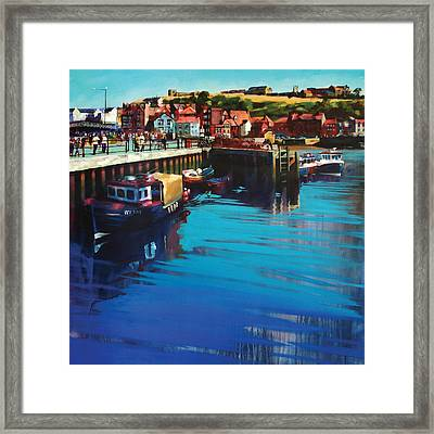Whitby New Quay Framed Print by Neil McBride