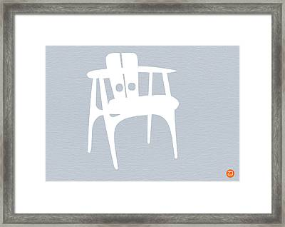 White Chair Framed Print by Naxart Studio