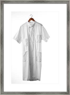 White Coat Framed Print by Arno Massee