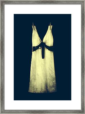 White Dress Framed Print by Joana Kruse
