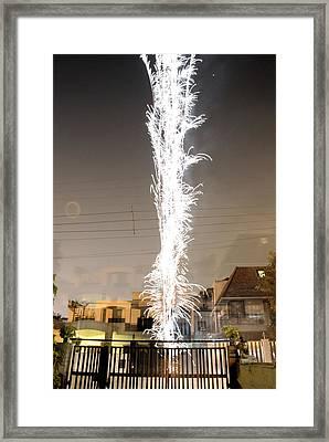 White Fireworks Framed Print by Sumit Mehndiratta