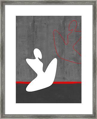 White Girl Framed Print by Naxart Studio