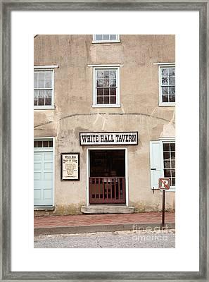 White Hall Tavern Framed Print by Ei Katsumata