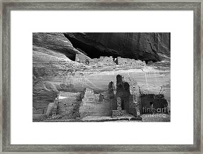 White House Ruin Canyon De Chelly Monochrome Framed Print by Bob Christopher
