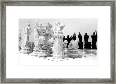 White Opening Framed Print by Kevin D Davis