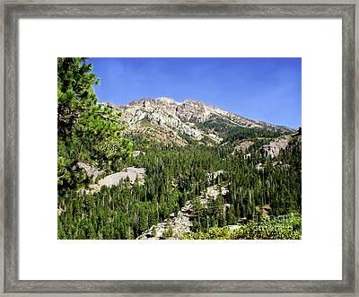 White Rock Mountain Framed Print by The Kepharts
