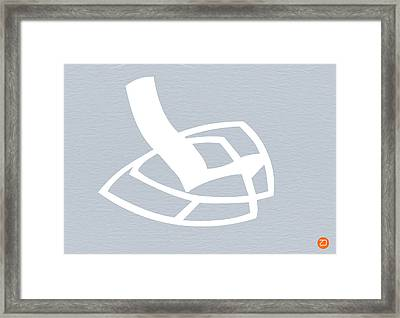 White Rocking Chair Framed Print by Naxart Studio