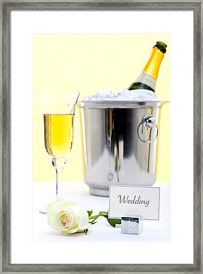 White Rose And Champagne Framed Print by Richard Thomas