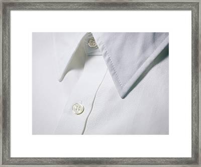 White Shirt Collar Detail. Framed Print by Ballyscanlon